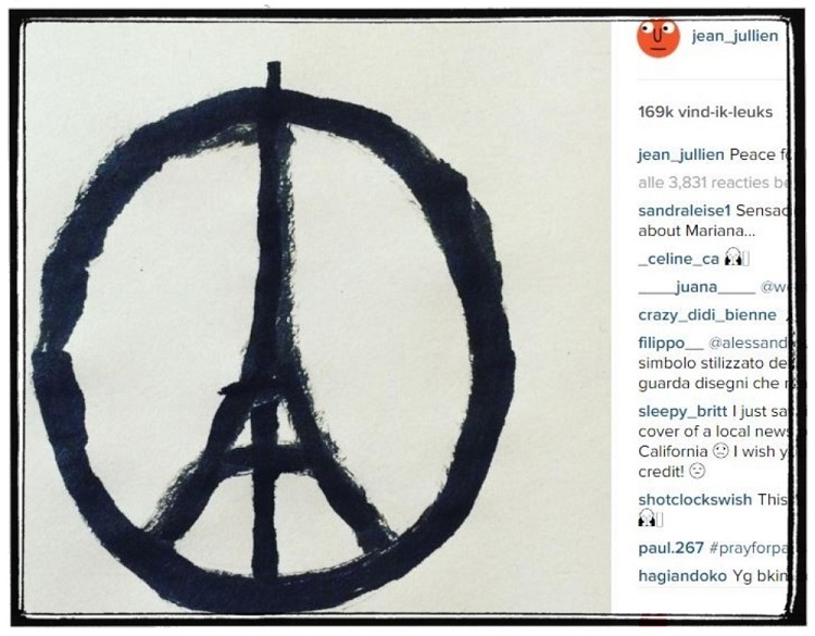 Jean Jullien Pray for Paris